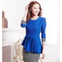 dress-thick-cotton-warna-biru-83682-kode-RJ-XY61060-BIRU
