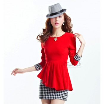 dress-thick-cotton-warna-merah-21496-kode-RJ-XY61060-MERAH